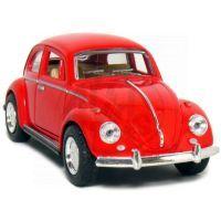 Kinsmart Auto Volkswagen Beetle na zpětné natažení - Červená