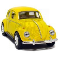 Kinsmart Auto Volkswagen Beetle na zpětné natažení - Žlutá