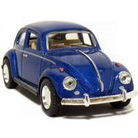 Kinsmart Auto Volkswagen Beetle na zpětné natažení - Modrá