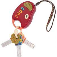 B.Toys Klíčky k autu FunKeys červené