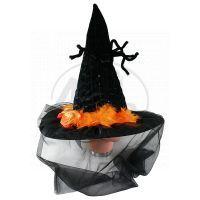 Rappa Klobouk halloween se závojem a pavoukem