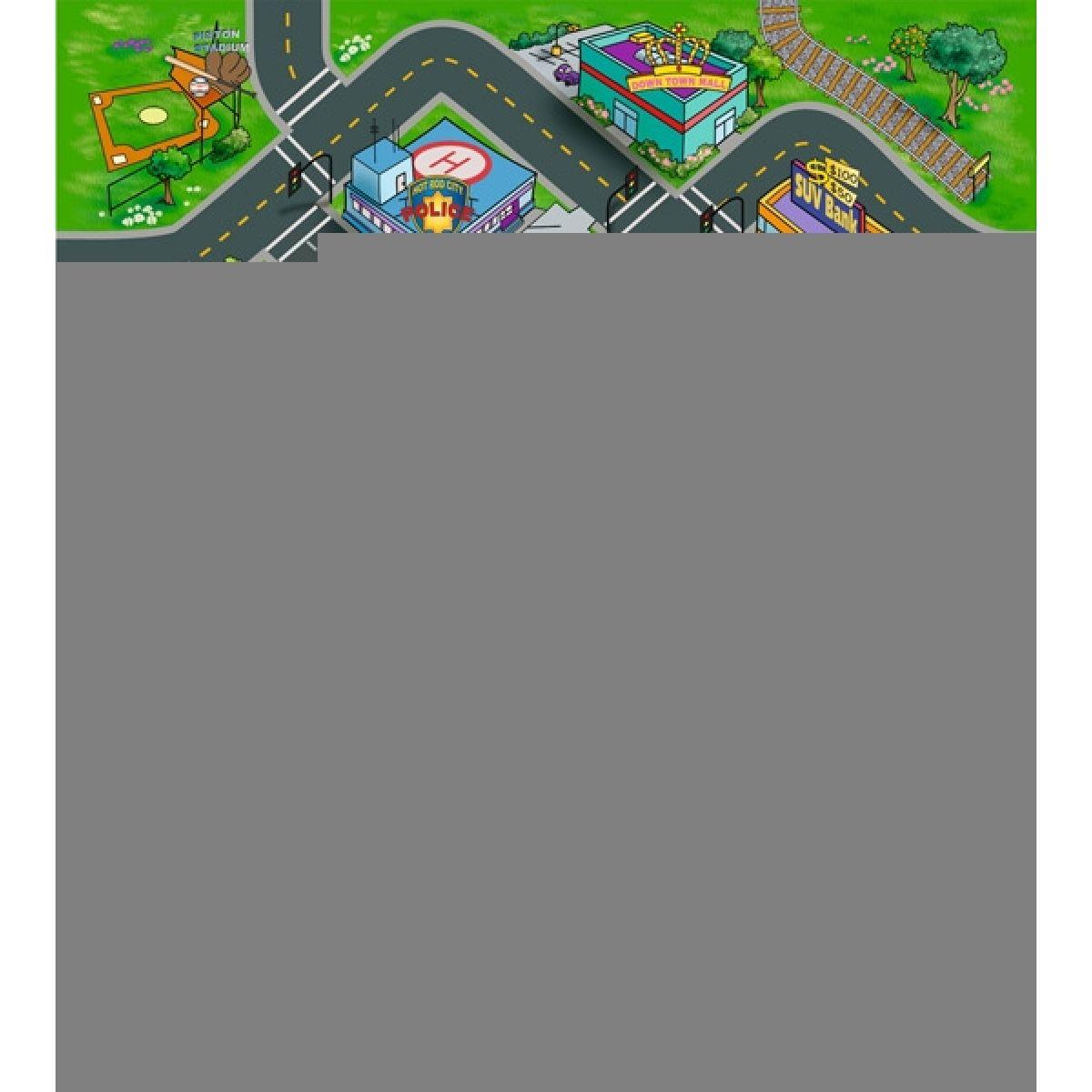 DICKIE D 3315313 - Koberec na hraní s motivem malého města 70 x 80 cm