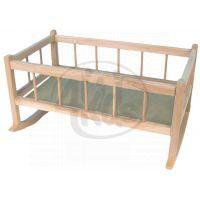 Teddies 45011208 - Kolébka dřevěná 50cm v sáčku
