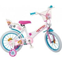 Toimsu Bicykel detské Tlapková patrola bielo ružové 16