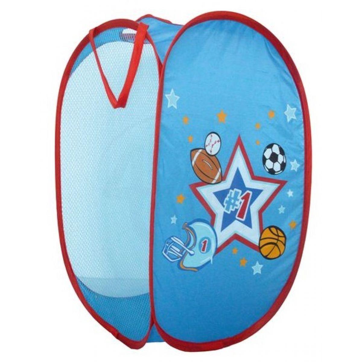 Teddies Koš na hračky modrý pro kluky 363658cm polyester v sáčku