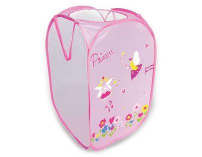 Koš na hračky Princess růžový