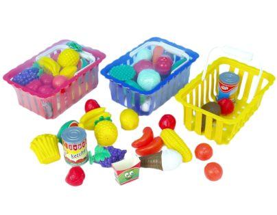 Košík s nákupem, ovoce a zelenina - Poškozený obal
