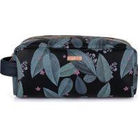 Oxy Lady Kosmetická taška malá Dark leaves