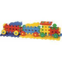 Toy Kostky konstrukční veselý vláček