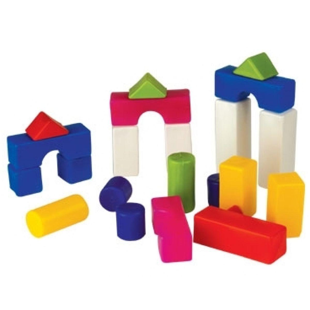 Kostky plastové 18ks