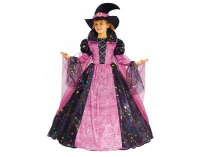 Rappa Kostým čarodejnice růžová, vel M