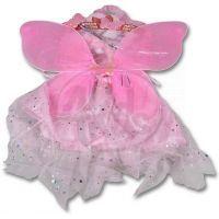 Made Kostým Křídla a sukně růžová