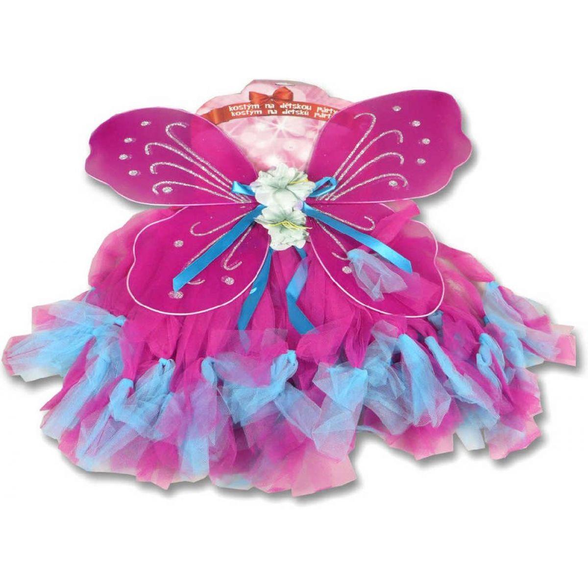 Made Kostým Křídla a sukně fialovomodrá