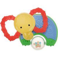 Mikro Kousátko slon s chrastítkem Babys Happiness