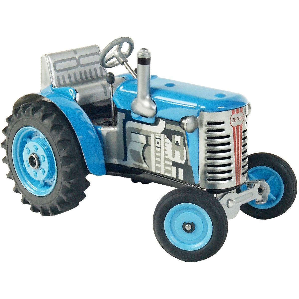 Kovap Traktor Zetor modrý na klíček