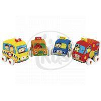 K´s Kids Látkovová auta s natahovacím pohonem
