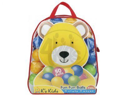 K's Kids KA10550 - Barevné míčky v PVC tašce, 50 ks