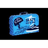 Kazeto Kufřík Skate modro černý 35 cm