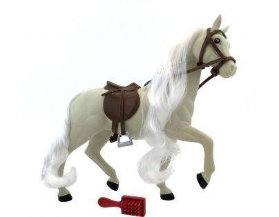 Kůň s hřebenem 18 cm - Bílý