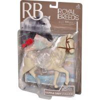 Kůň s hřebenem 18 cm - Bílý 2