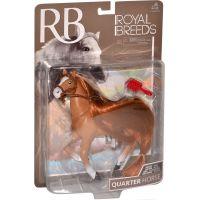 Kůň s hřebenem 18 cm - Hnědý s hnědou hřívou 2