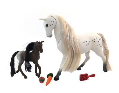 Lanard Kůň s hříbětem 18 cm - Bílá