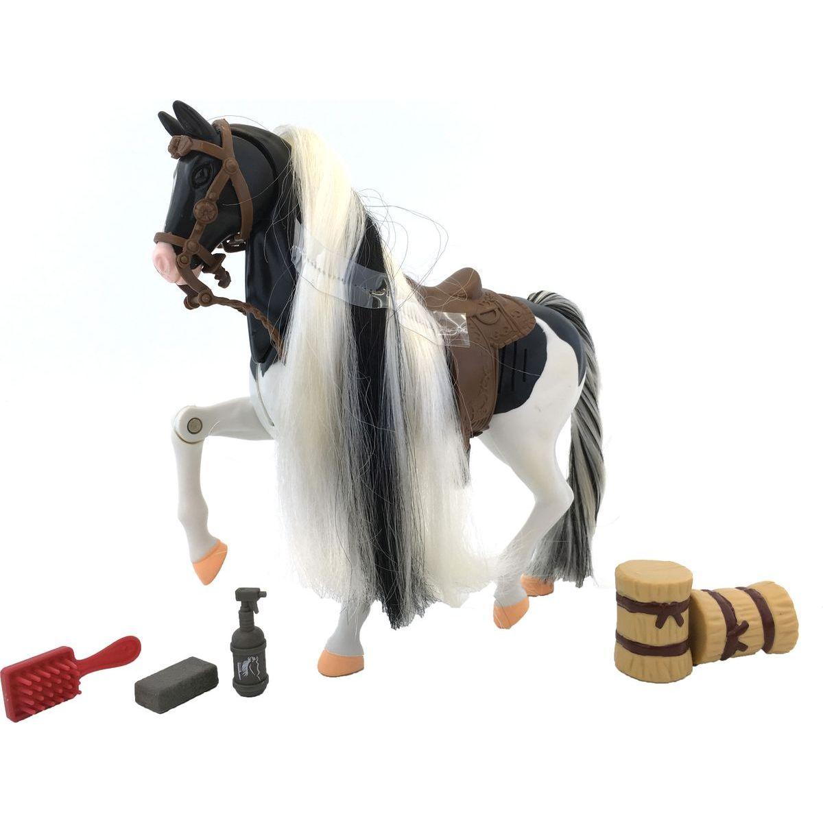 Lanard Kůň set 18 cm - Bílo-černý