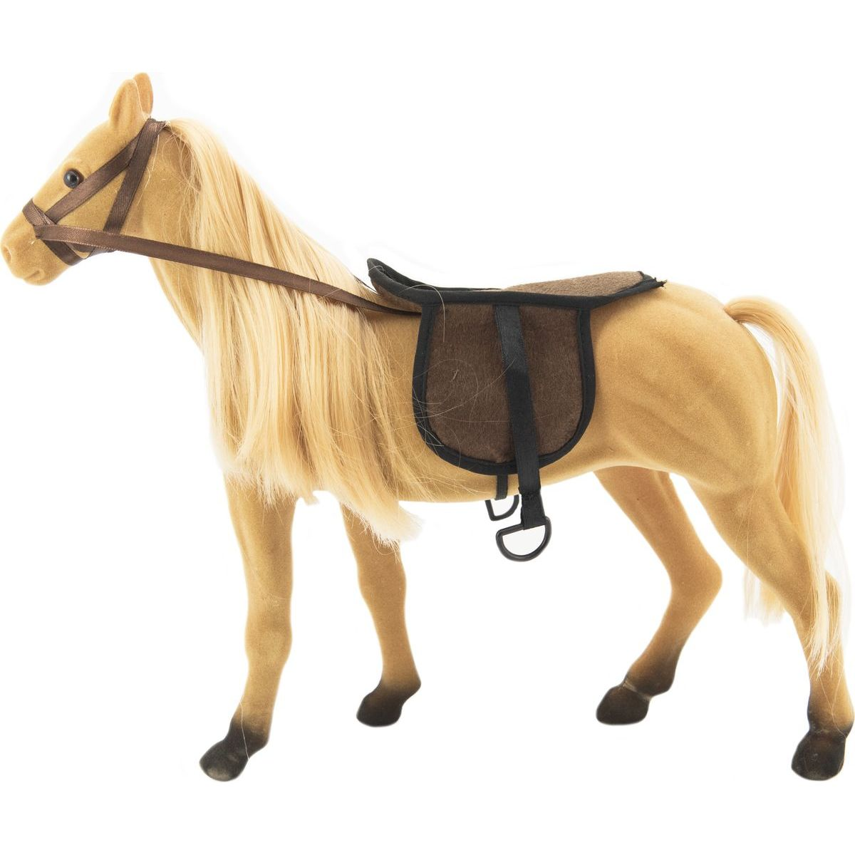 Kůň velký s doplňky fliška 38 cm