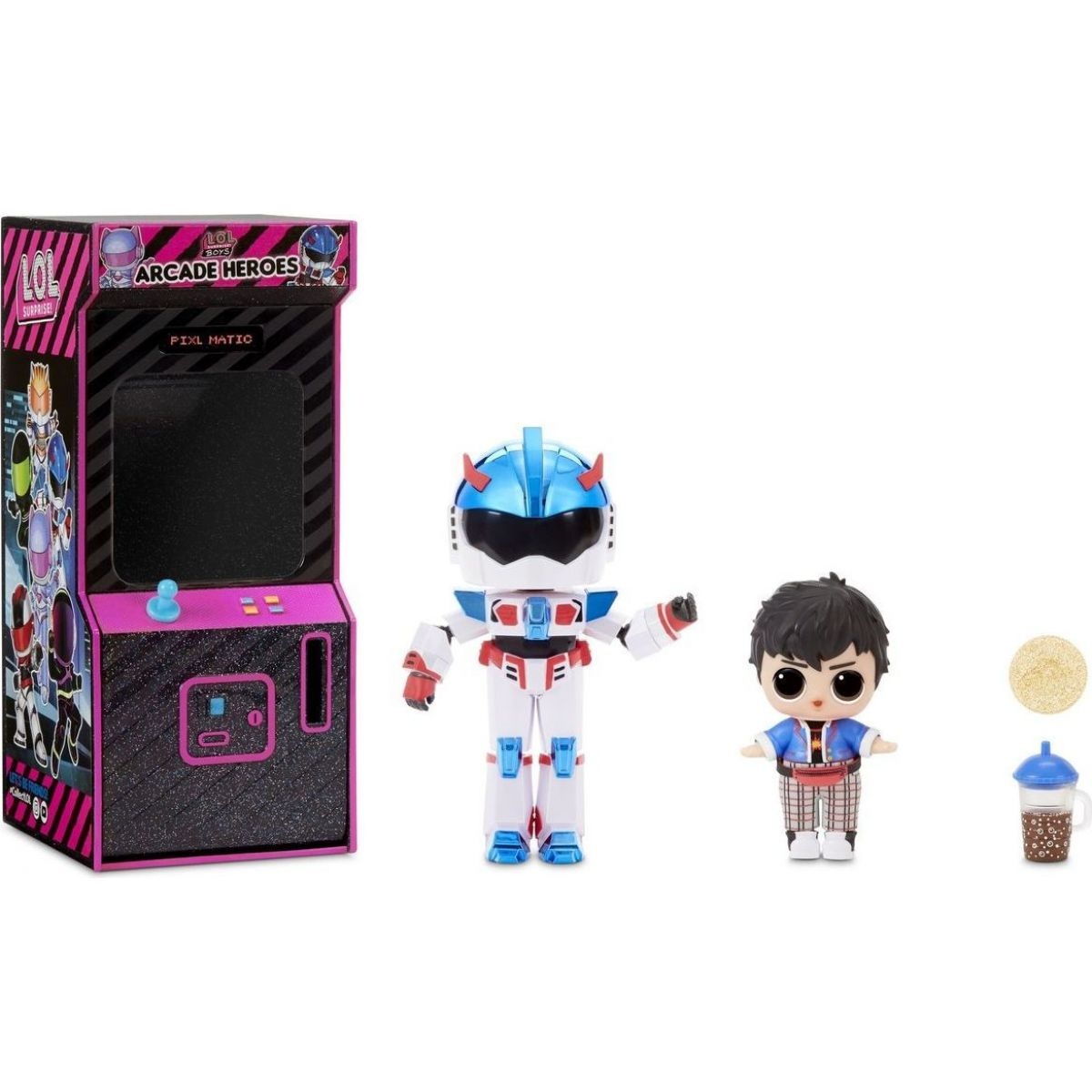 LOL Surprise Boys Arcade Heroes Automat Atomic modrý