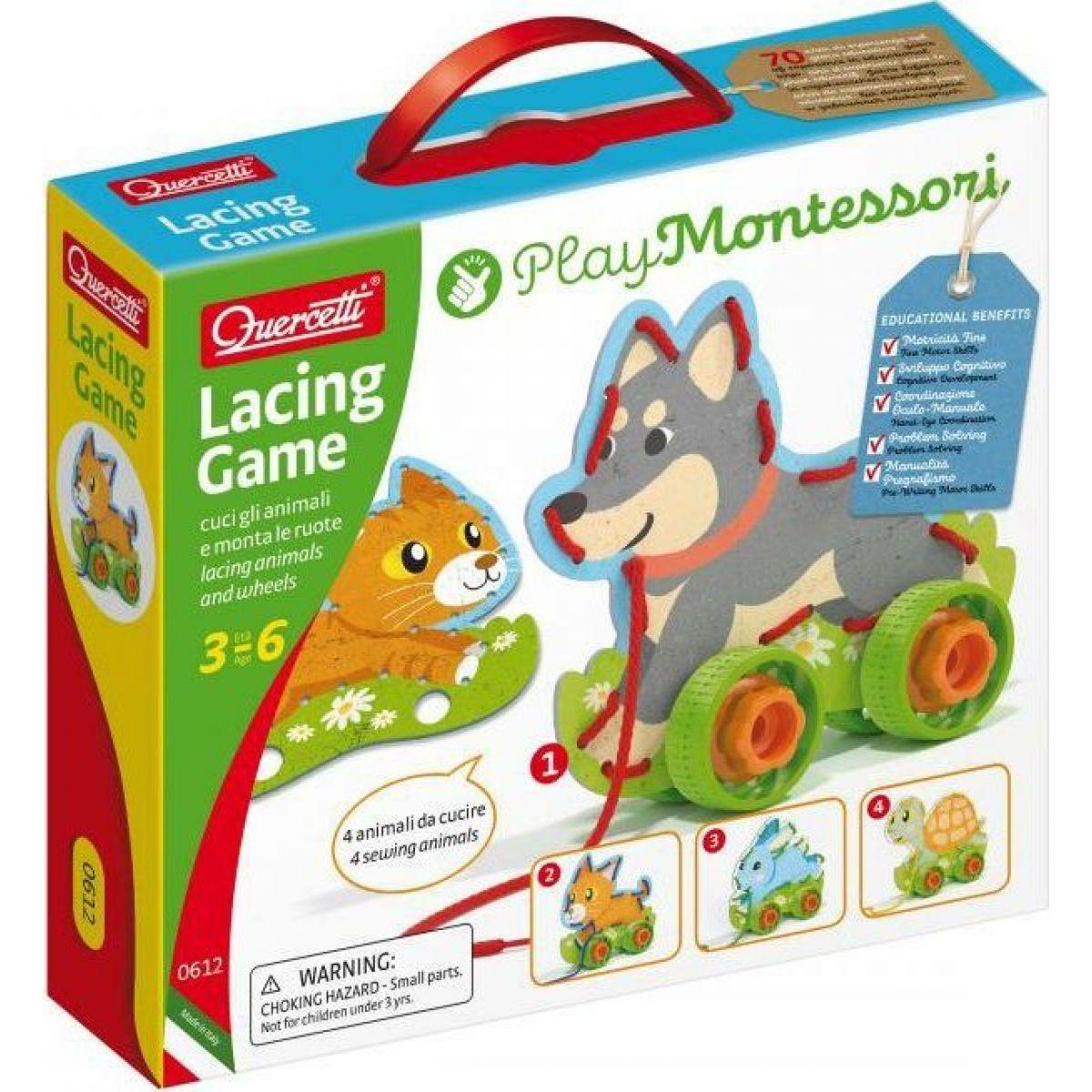 Lacing Game lacing animals & wheels Šněrovací zvířátka s kolečky