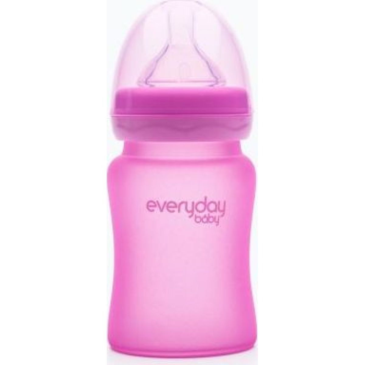 Everyday Baby Láhev sklo senzor 150 ml pink