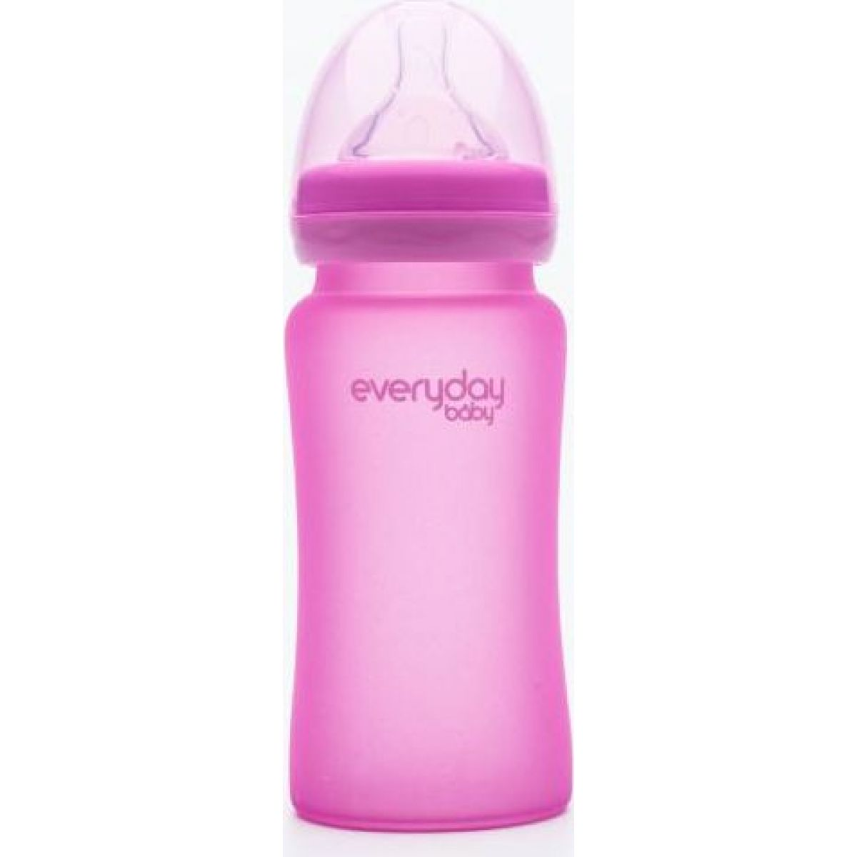 Everyday Baby Láhev sklo senzor 240 ml pink
