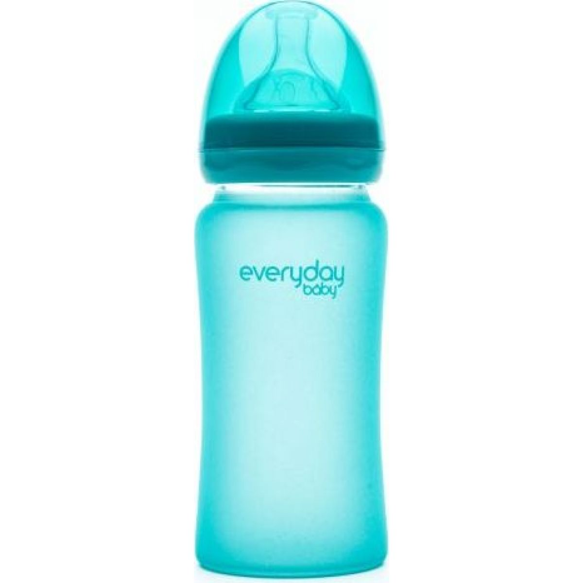 Everyday Baby Láhev sklo senzor 240 ml turquoise