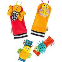 Lamaze Chrastící ponožky a náramky zvířátka červeno-oranžové