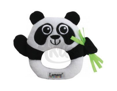 Lamaze 27076 - B&W Chrastítko panda