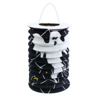 Rappa Lampion Černý válec s duchem 15 cm