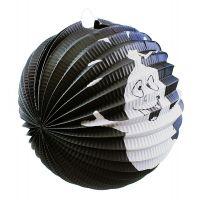 Rappa Lampion Černá koule s duchem 25 cm