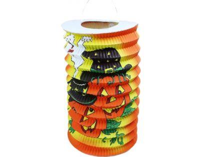 Rappa Lampion Halloween 15 cm s čajovou svíčkou