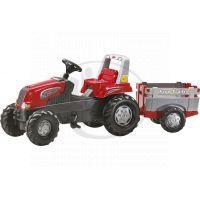 Rolly Toys 800261 - Šlapací traktor Rolly Junior RT s vlečkou červeno-šedý