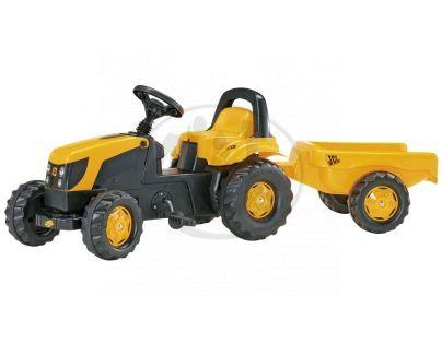 Rolly Toys 012619 - Šlapací traktor Rolly Kid JCB s vlečkou žlutý