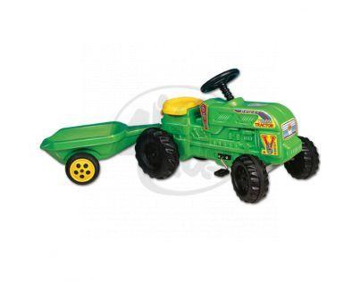 Šlapací traktor s přívěsem