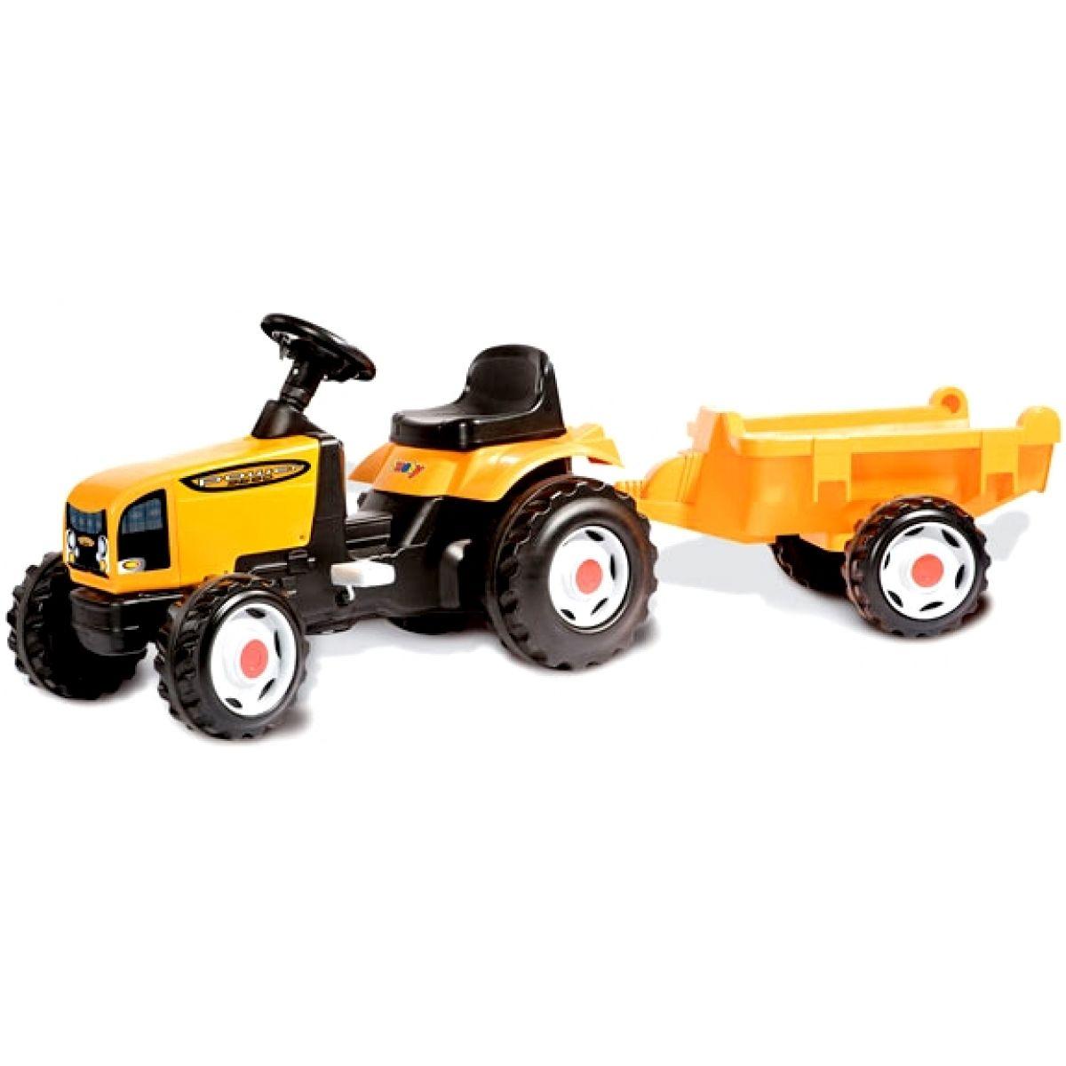Šlapací traktor s vlekem Smoby