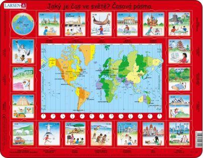 Larsen Výukové puzzle Čas ve světě