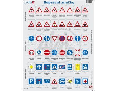 Larsen 22703 - Výukové puzzle Dopravní značky