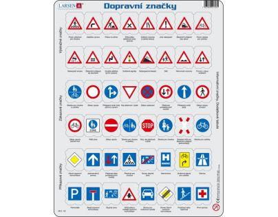 Larsen Výukové puzzle Dopravní značky