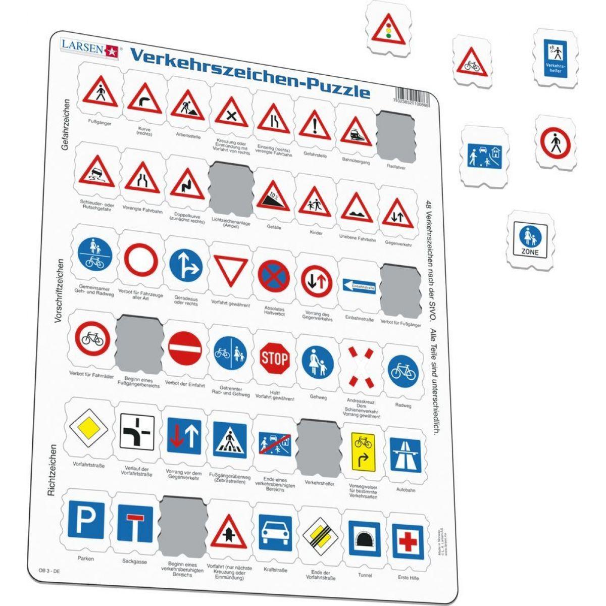 Larsen Dopravní značky 48 dílků