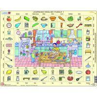 Larsen 24701 - Výukové puzzle Hodina angličtiny I.