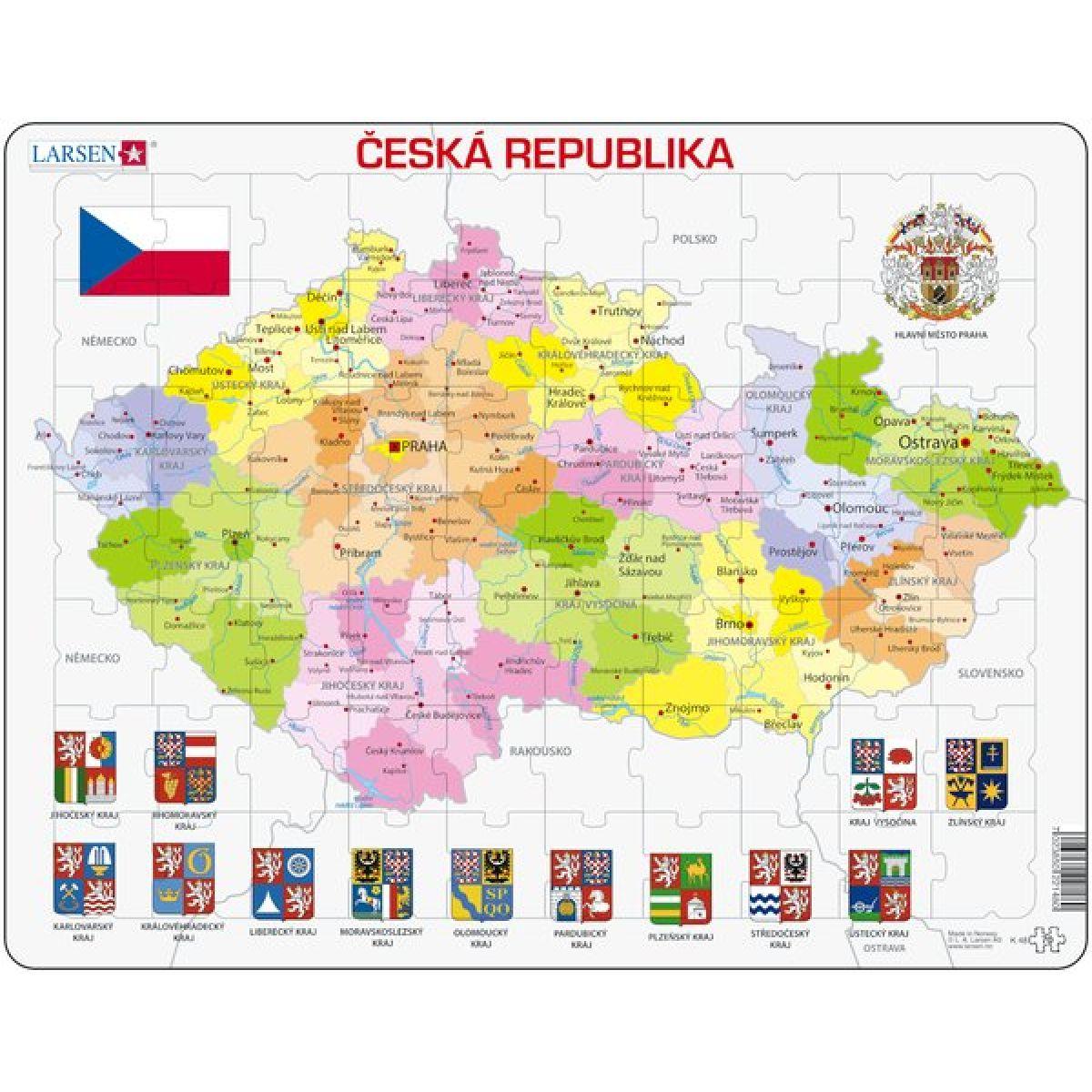 Larsen Výukové puzzle Mapa Česká republika
