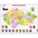 Larsen Výukové puzzle Mapa Česká republika 2