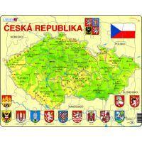 Larsen 22148 - Výukové puzzle Mapa - ČESKÁ REPUBLIKA